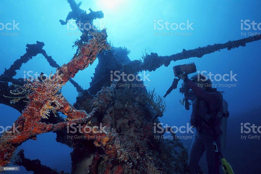 Sea of Cortez Shipwreck royalty-free stock photo