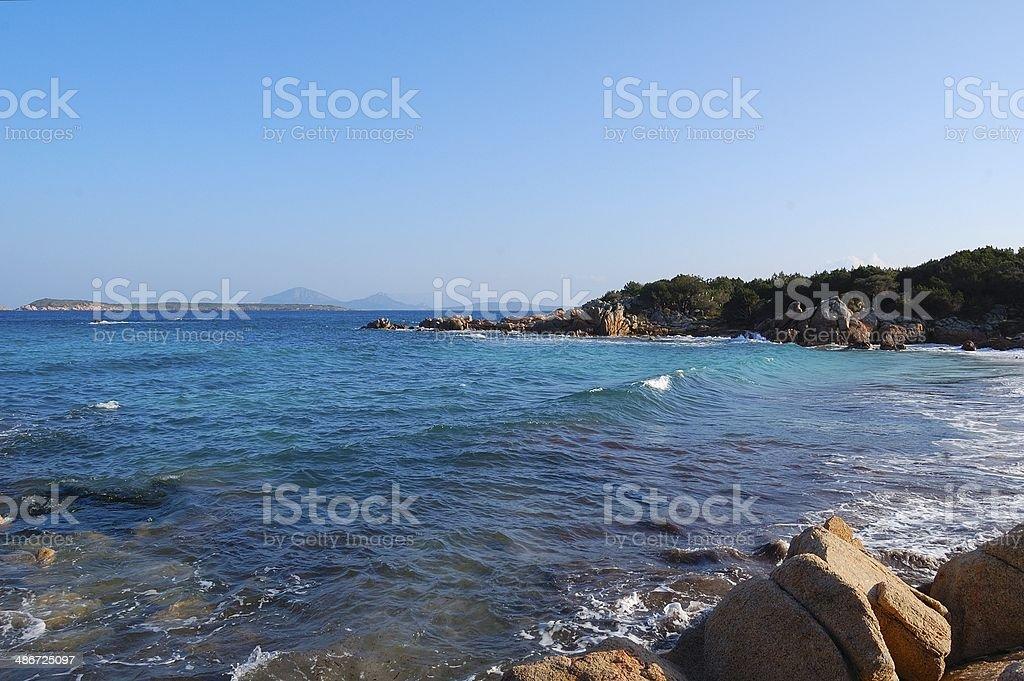 Sea of Costa Smeralda stock photo