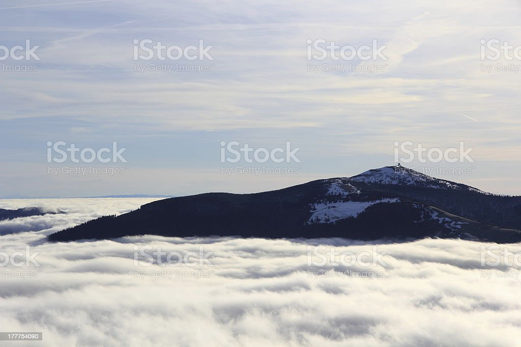 Sea of fog stock photo