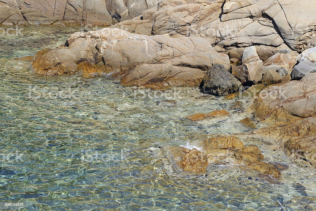 Sea of Giglio island - Campese stock photo