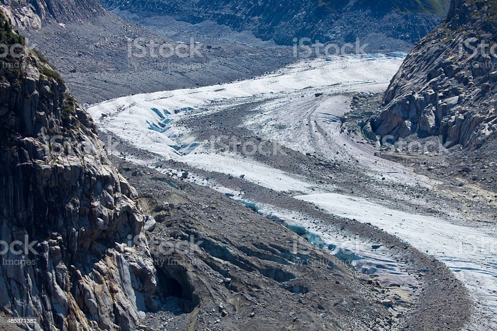 Mer du Gla? - French Alps stock photo