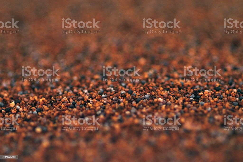 Sea of poppy seeds royalty-free stock photo