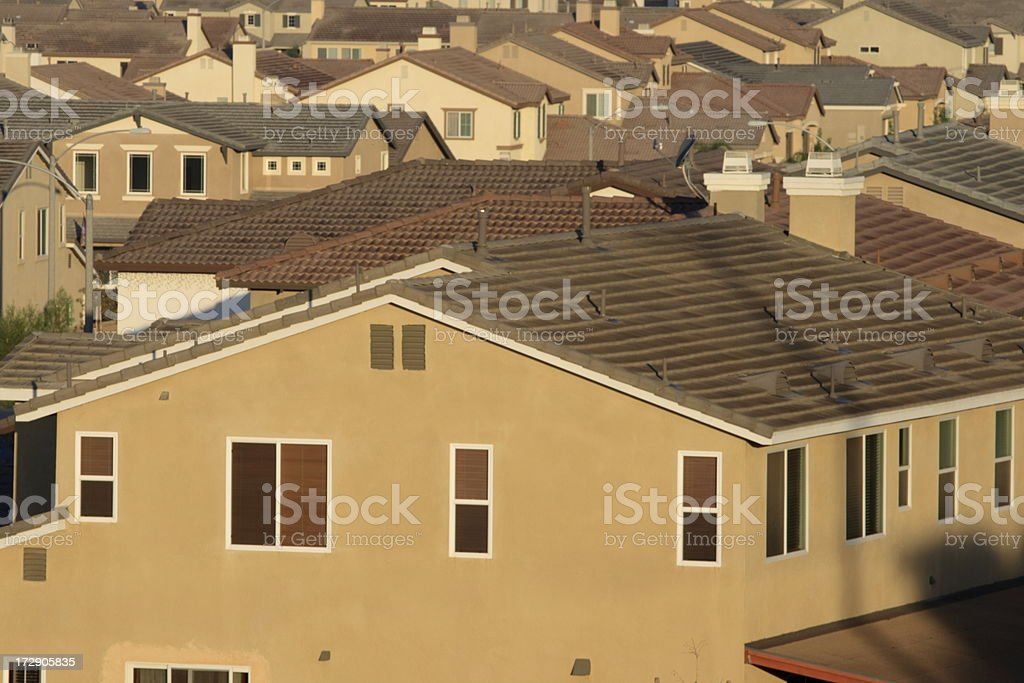 Sea of Tract Homes stock photo
