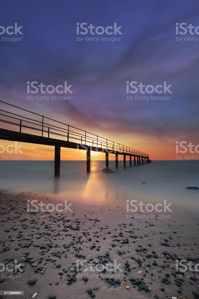 Sea path stock photo