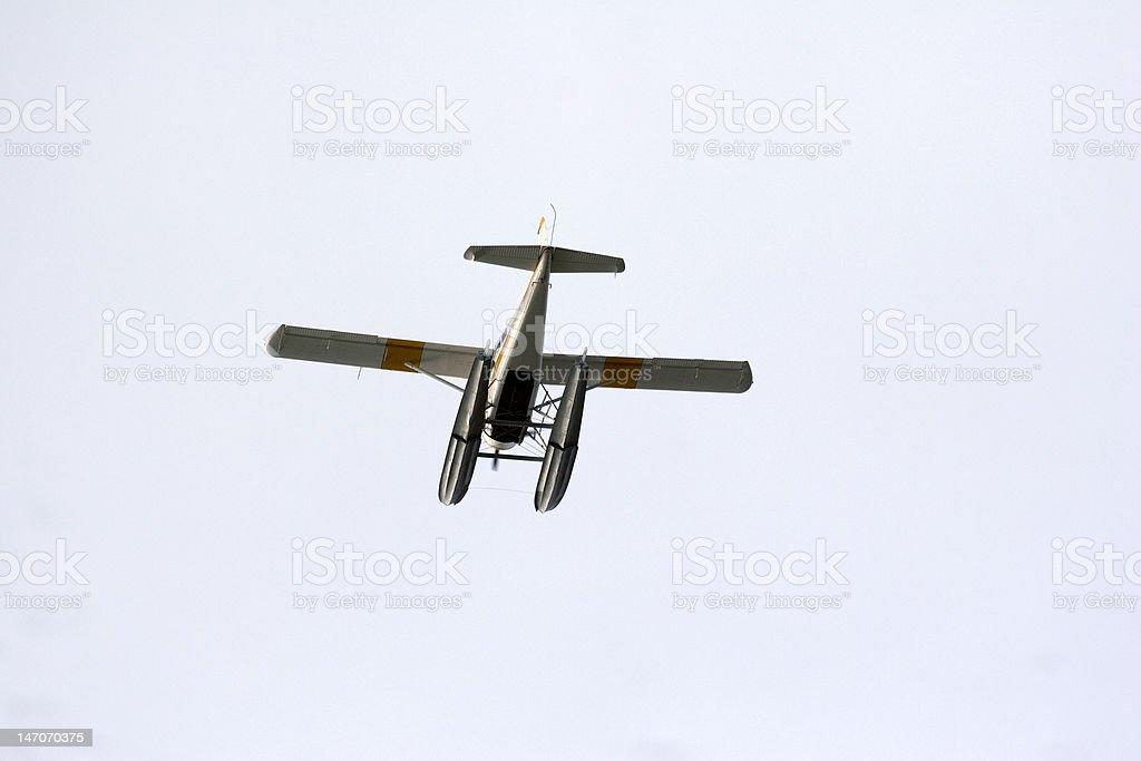 Sea Plane Depart royalty-free stock photo