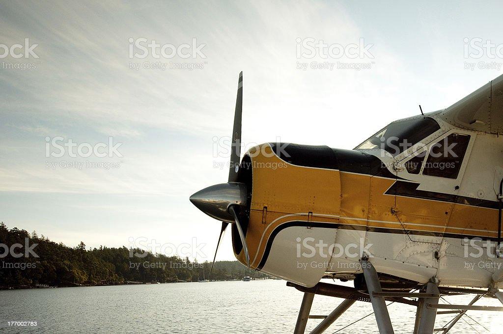 Sea Plane in the San Juan Islands stock photo