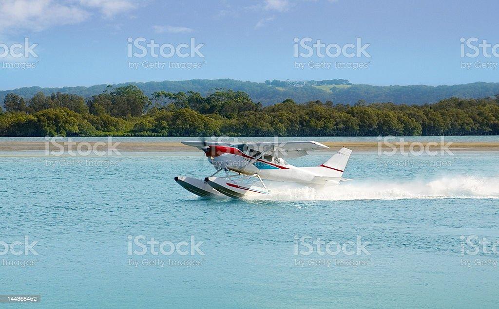 Sea Plane prepares for Take off royalty-free stock photo
