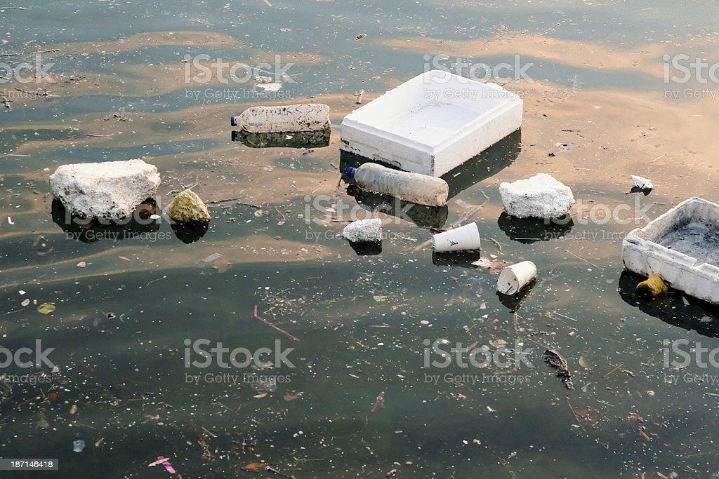 Sea polution stock photo