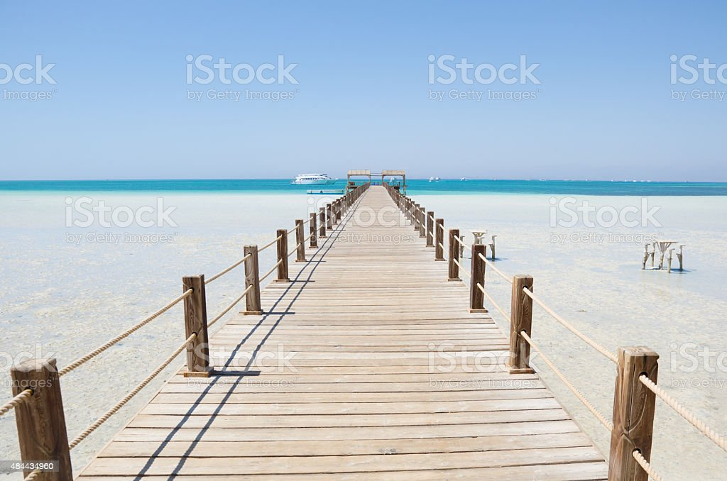 Sea pontoon stock photo
