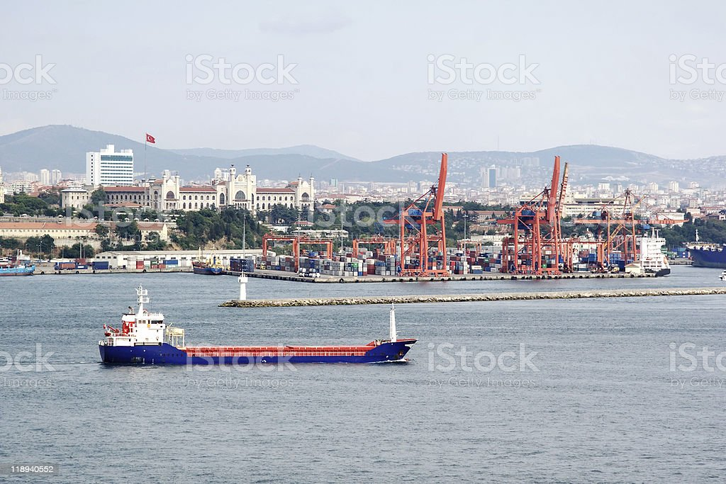 Sea Port royalty-free stock photo