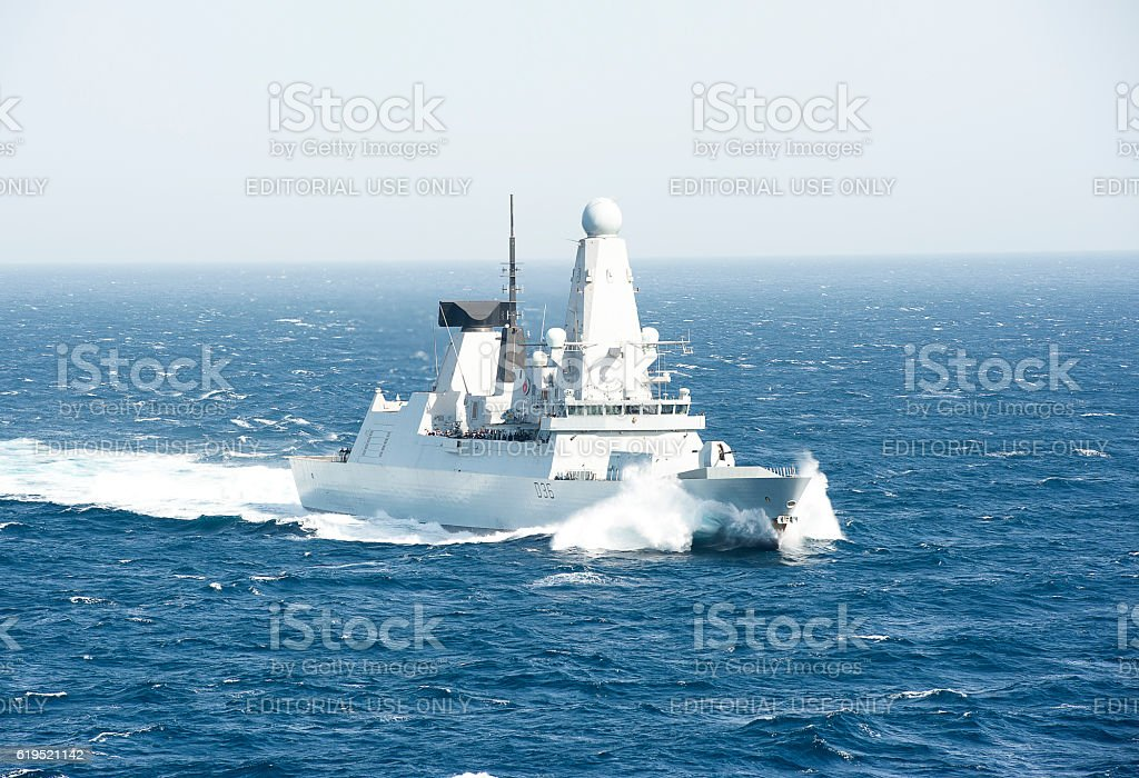Sea Power, Arabian Sea stock photo