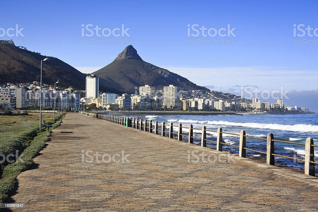 Sea Promenade in Cape Town stock photo