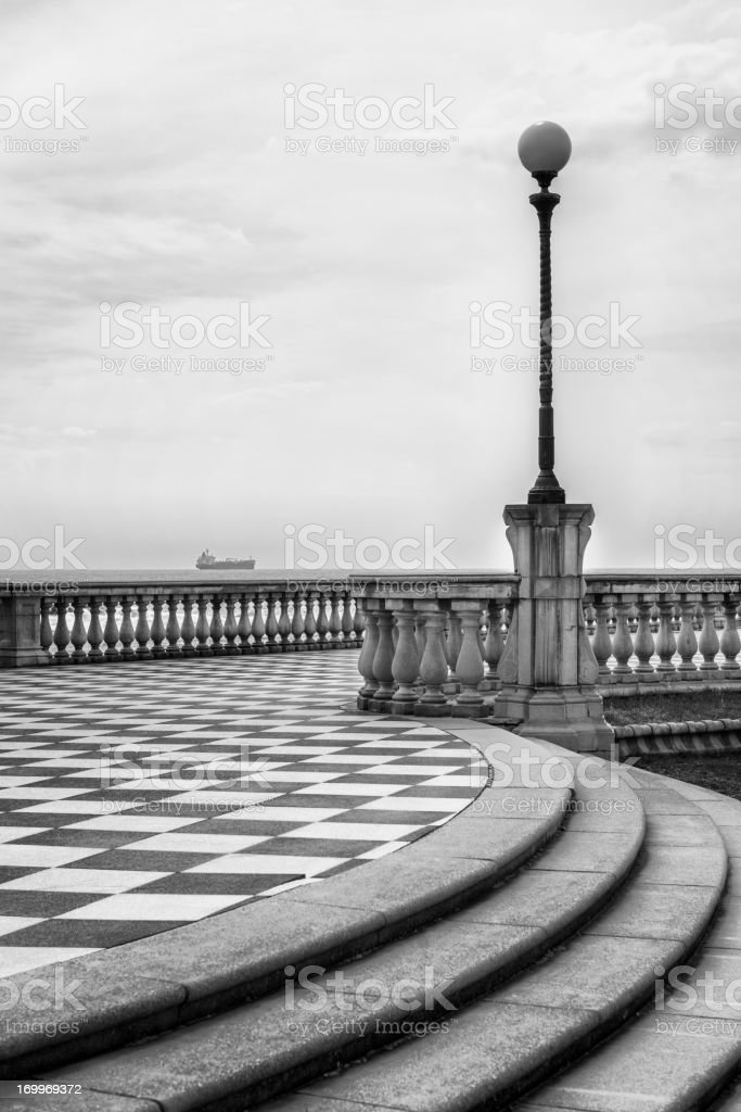 Sea promenade royalty-free stock photo