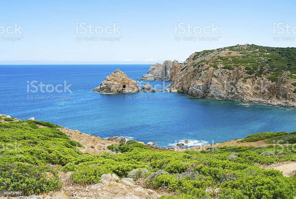 Sea promontory stock photo