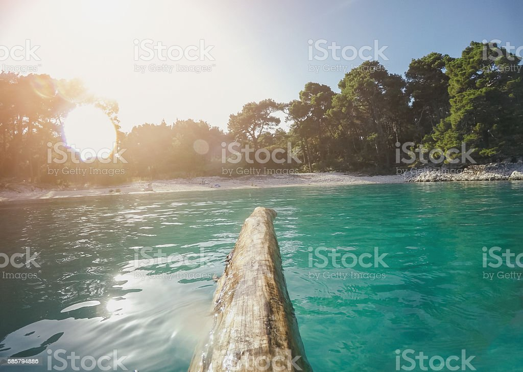 Sea rafting stock photo