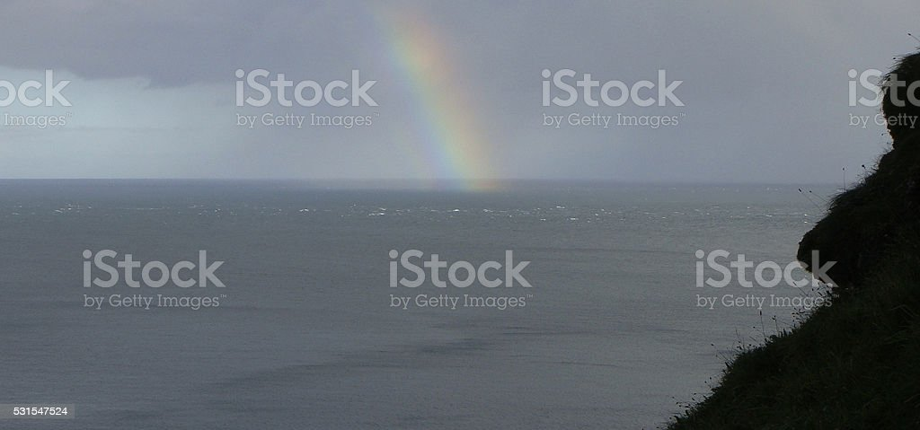 Sea Rainbow Ireland stock photo