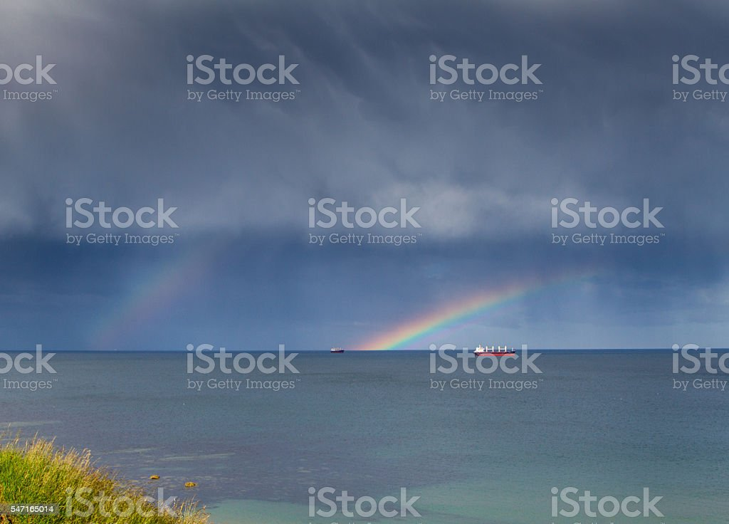Sea Rainbows stock photo