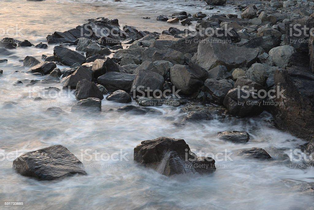 sea rocks royalty-free stock photo