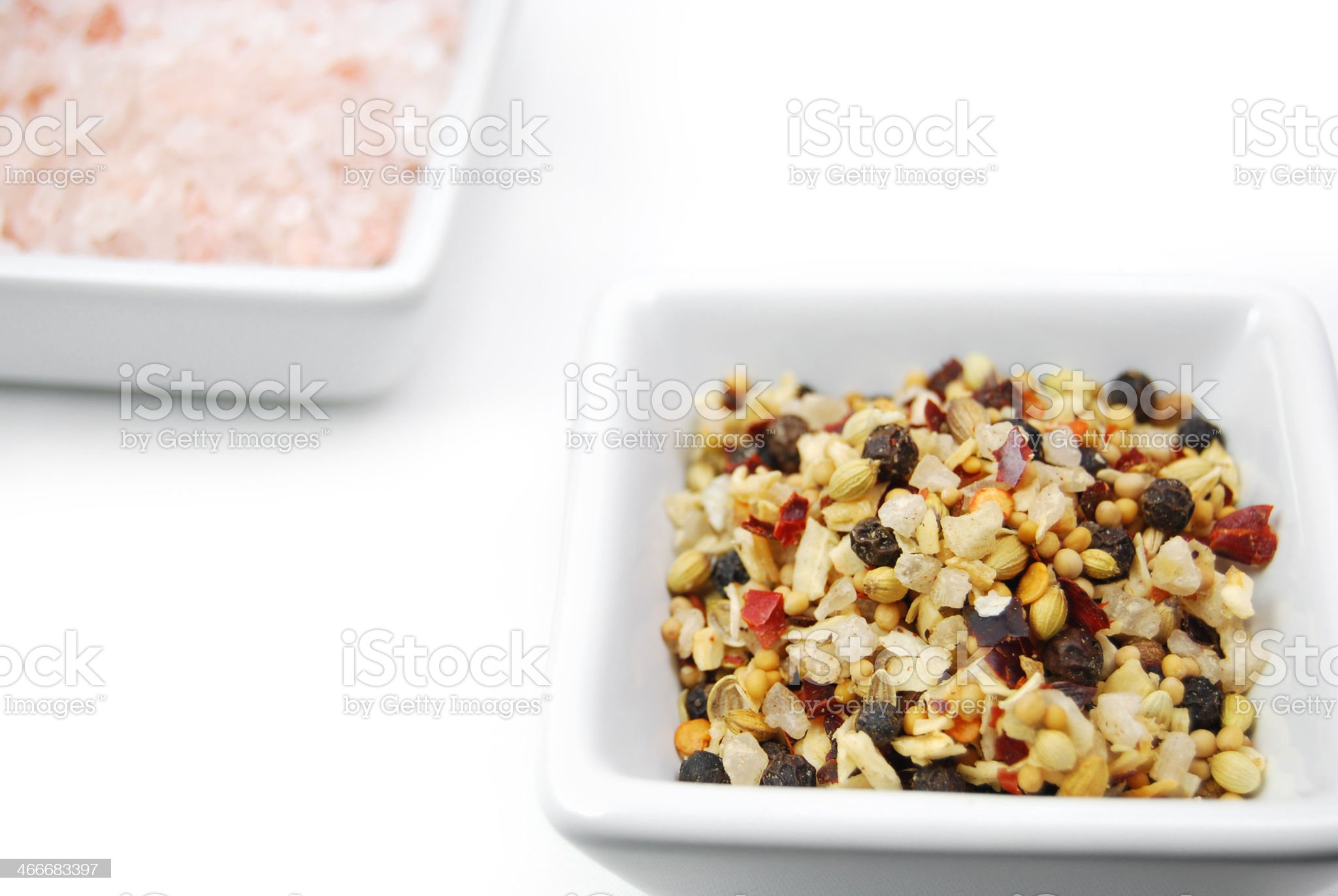 Sea Salt and Black Peppercorn Seasoning Mix royalty-free stock photo