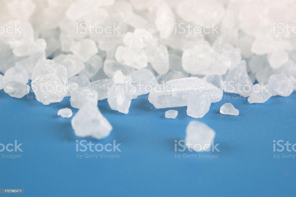 Sea salt crystals royalty-free stock photo