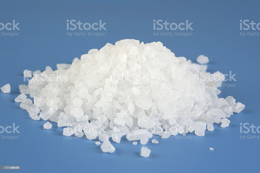 Sea salt crystals stock photo