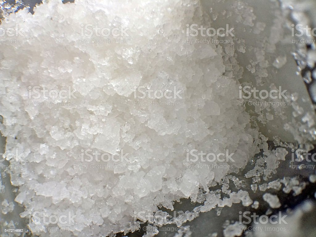 sea salt, Fleur de Sel stock photo