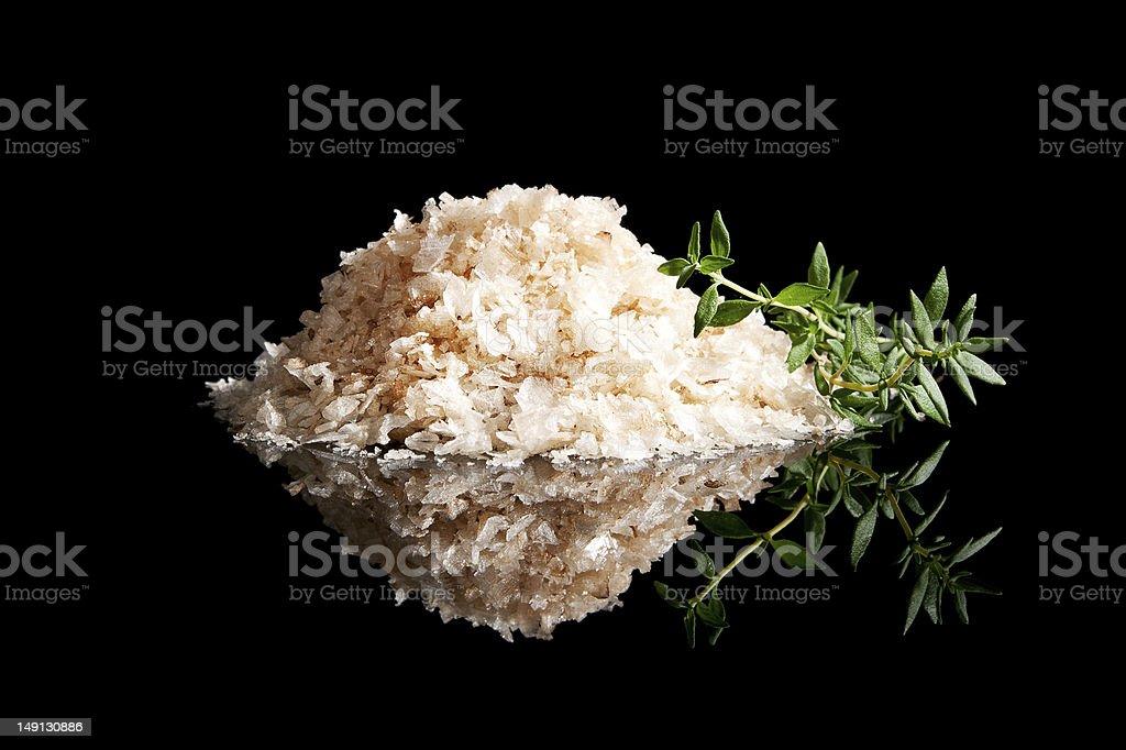 Sea salt heap isolated. stock photo