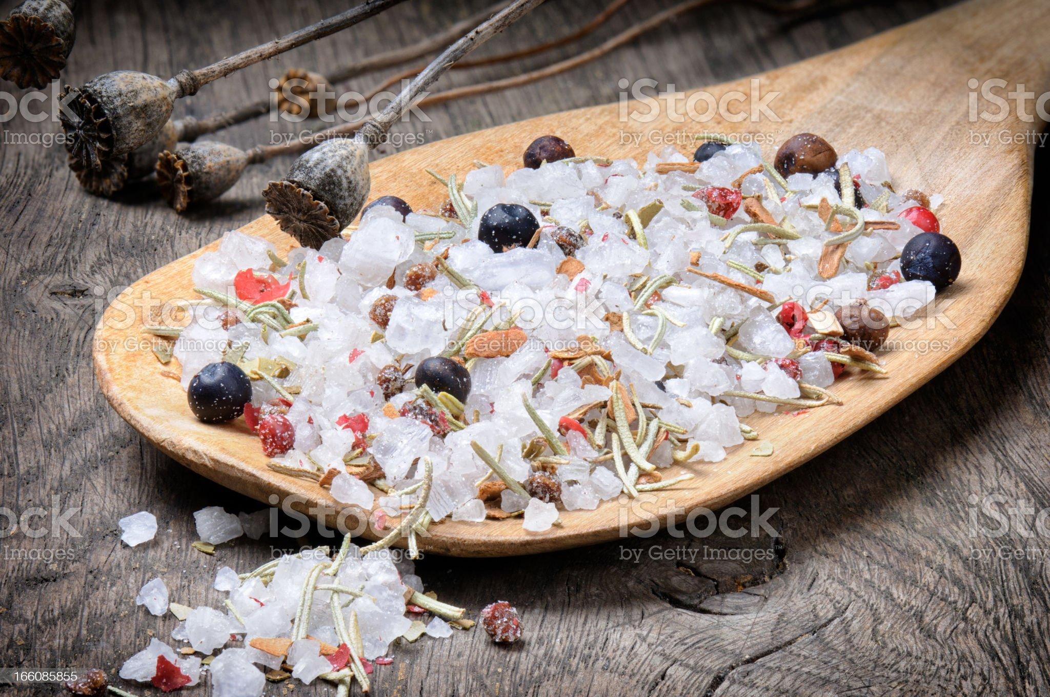 Sea salt mix royalty-free stock photo
