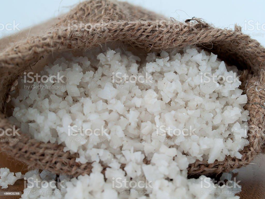 Sea salt or sea salt stock photo