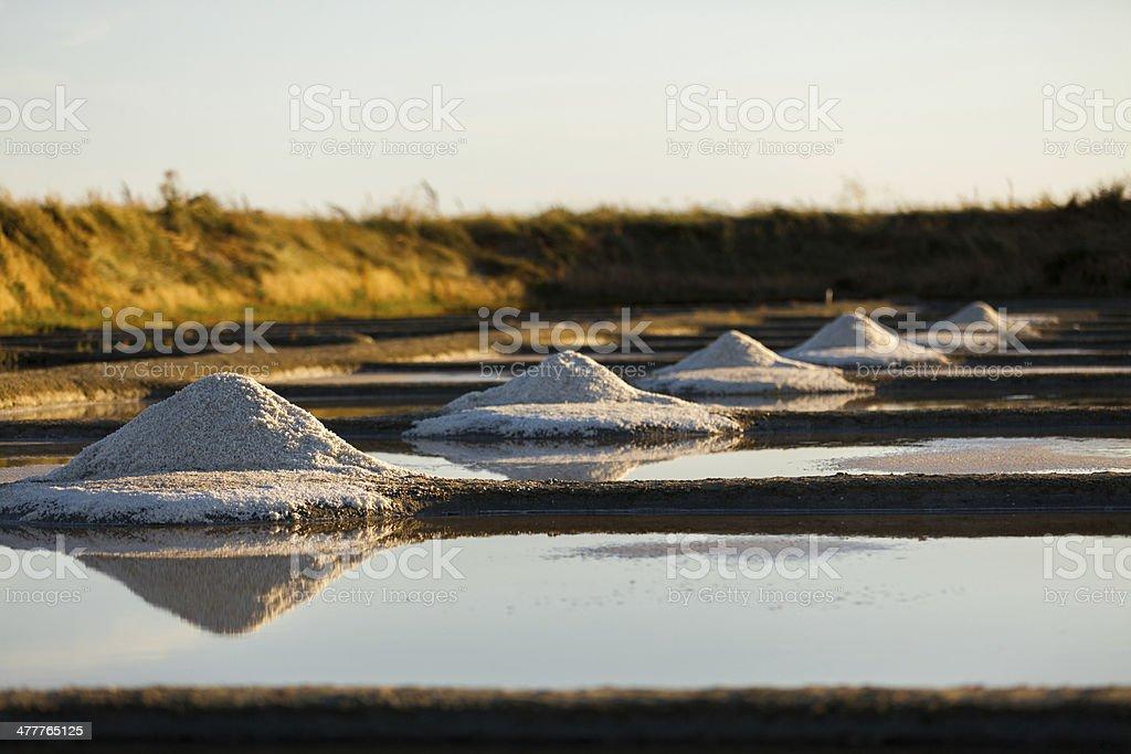 sea salt pans stock photo
