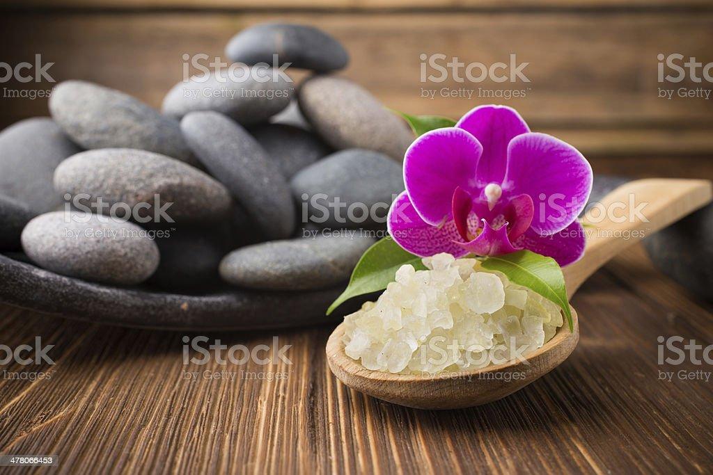 Sea salt. royalty-free stock photo