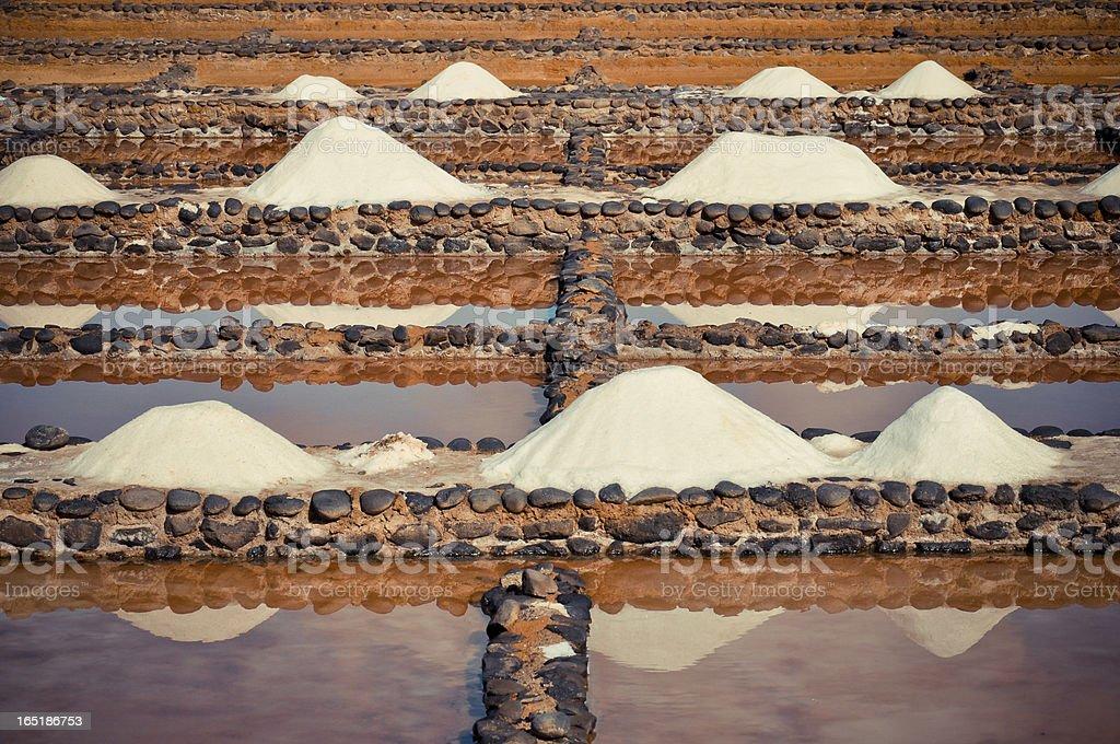 Sea salt-Produktion Lizenzfreies stock-foto