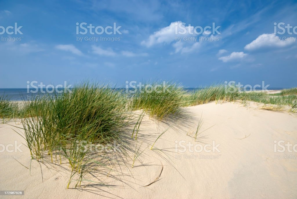 Sea, Sand and Dunes royalty-free stock photo