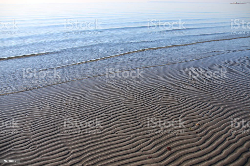 Sea Sand Ripples stock photo