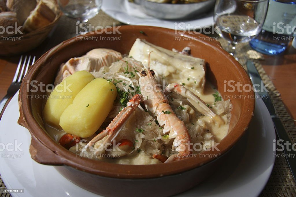choucroute de mer stock photo