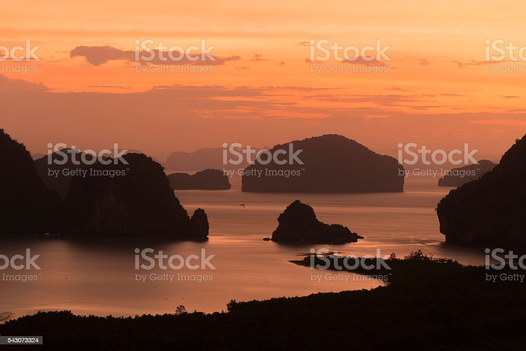 Sea scape from Phang-Nga,Thailand stock photo