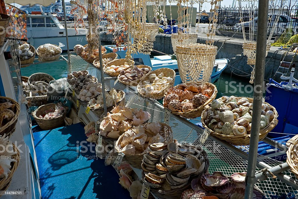 Sea shell store royalty-free stock photo
