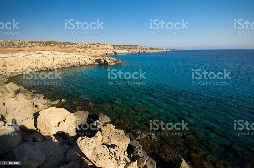 Sea shore at summer stock photo
