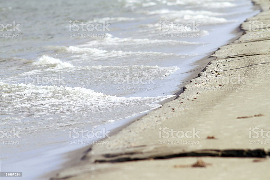sea shore in a stormy day stock photo