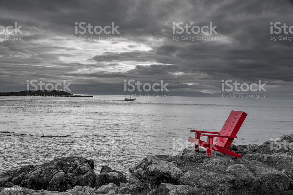 Sea side contrast stock photo