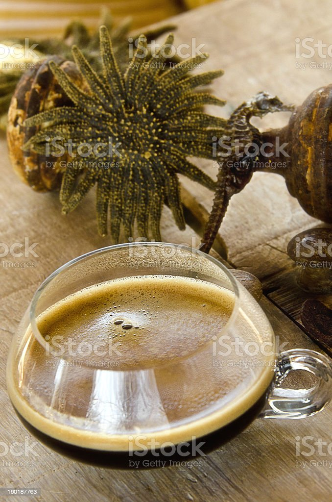Sea side Espresso royalty-free stock photo