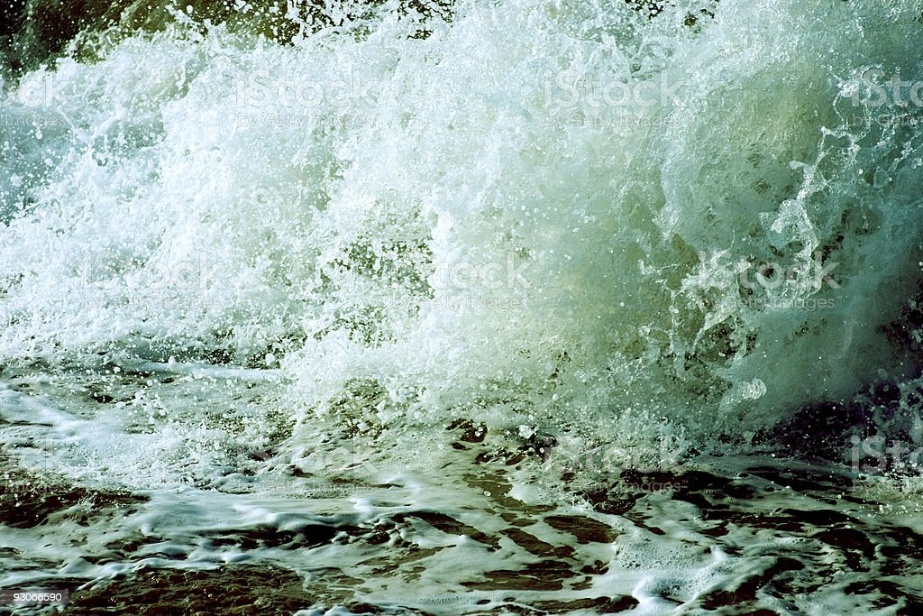 Sea splash stock photo