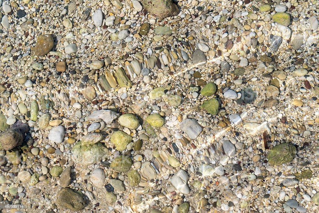 sea stone bottom stock photo