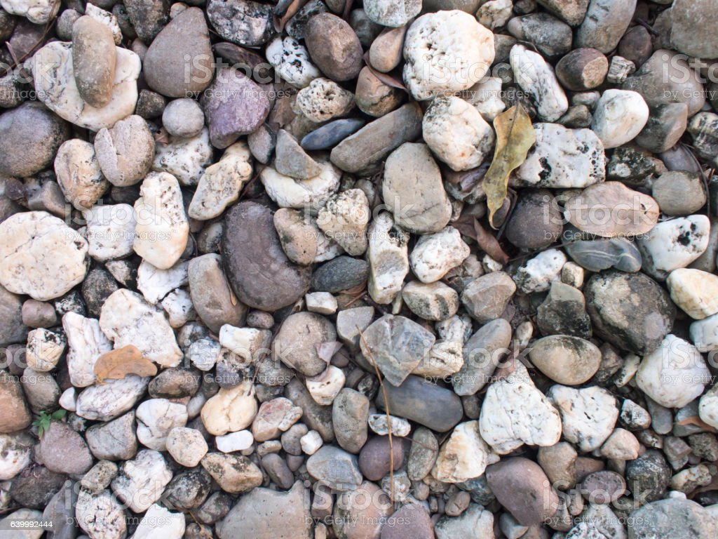 Sea stones background, small rocks. stock photo