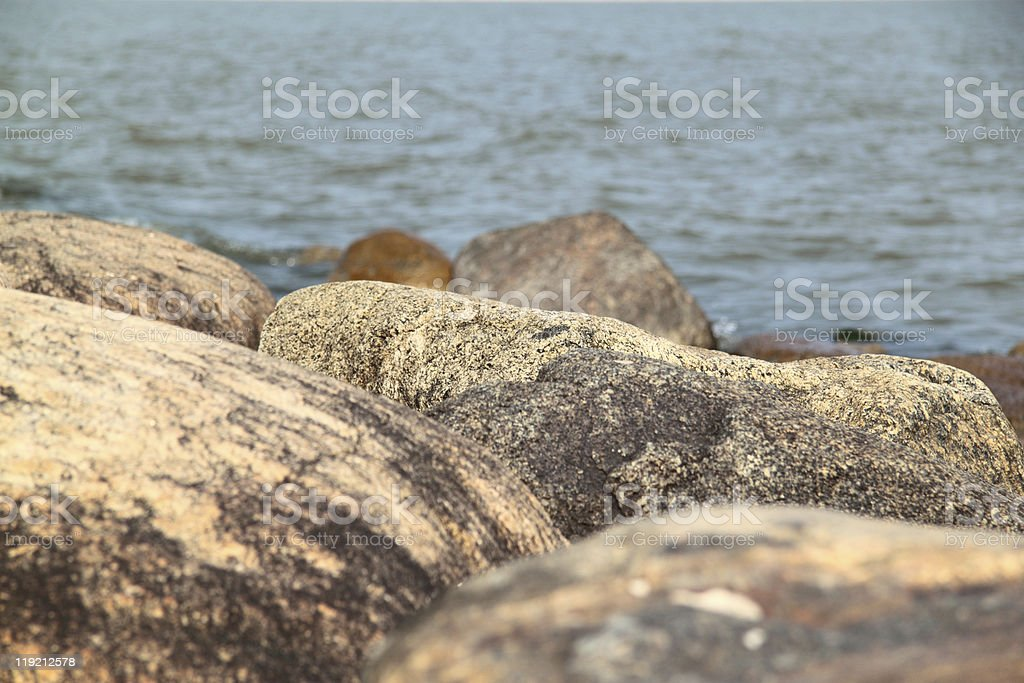sea stones royalty-free stock photo