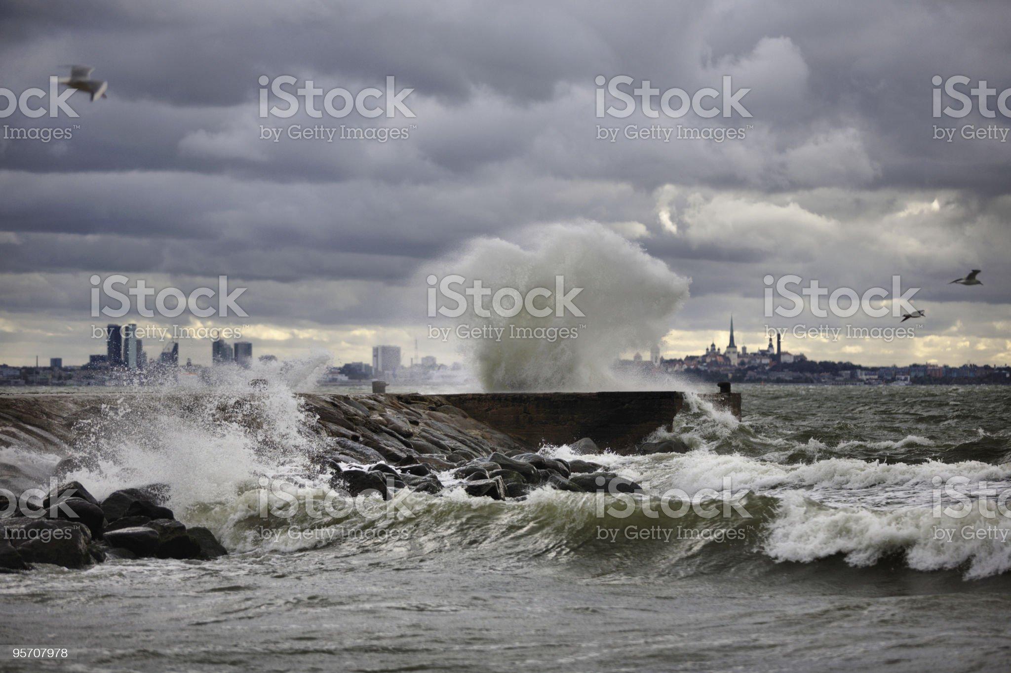 Sea storm royalty-free stock photo