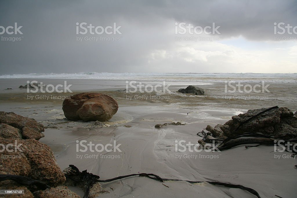 sea storm with angry waves royalty-free stock photo