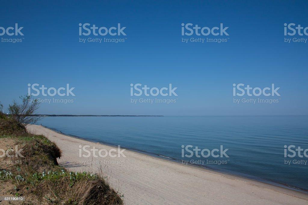 Sea summer landscape. stock photo