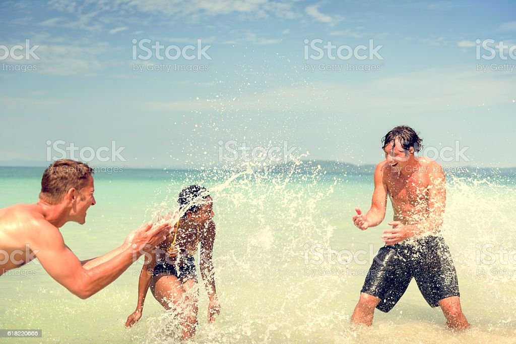 Sea Sunny Vacation Leisure Holiday Friends Concept stock photo