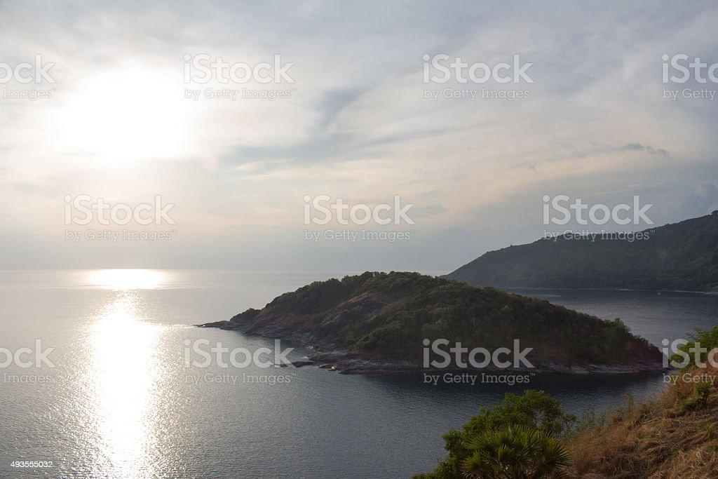 Закат на море и солнце отражение Стоковые фото Стоковая фотография